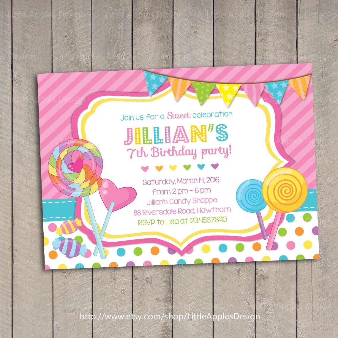 Candyland Party Invitation with luxury invitation sample