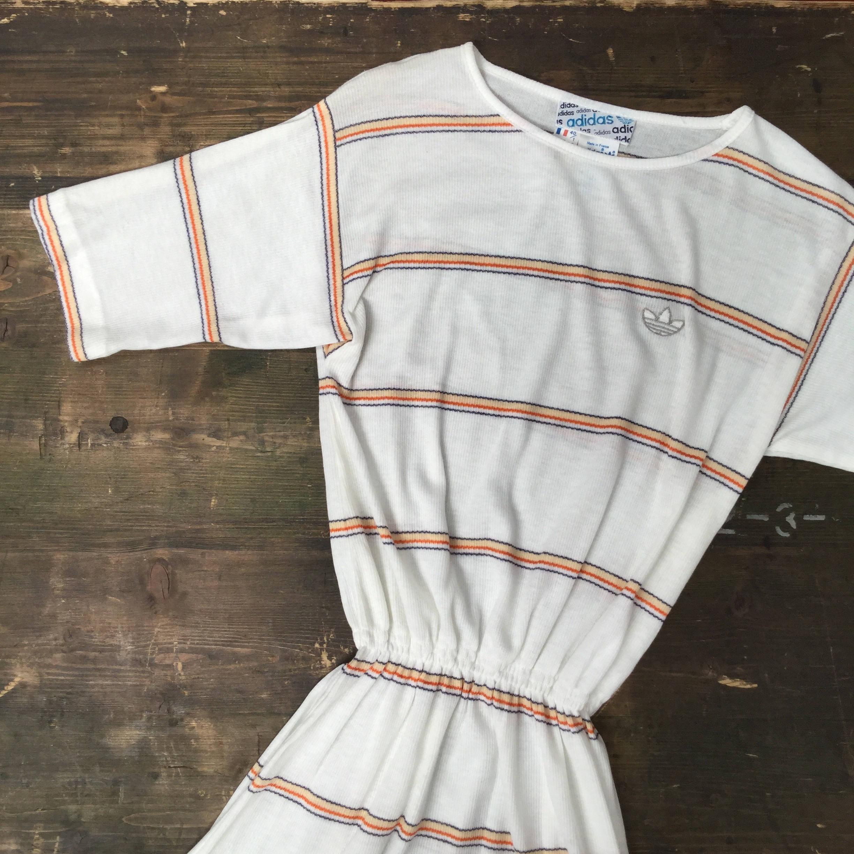 Adidas Orange Stripe Tennis Dress