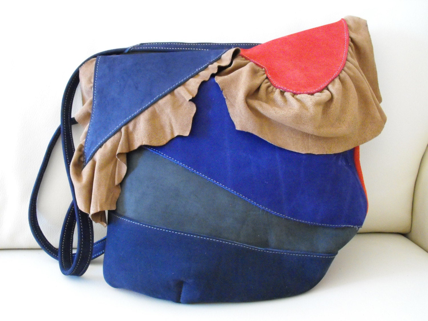 Red Blue and Gray Bag Crossebody Hobo Embreagem - DiuBags