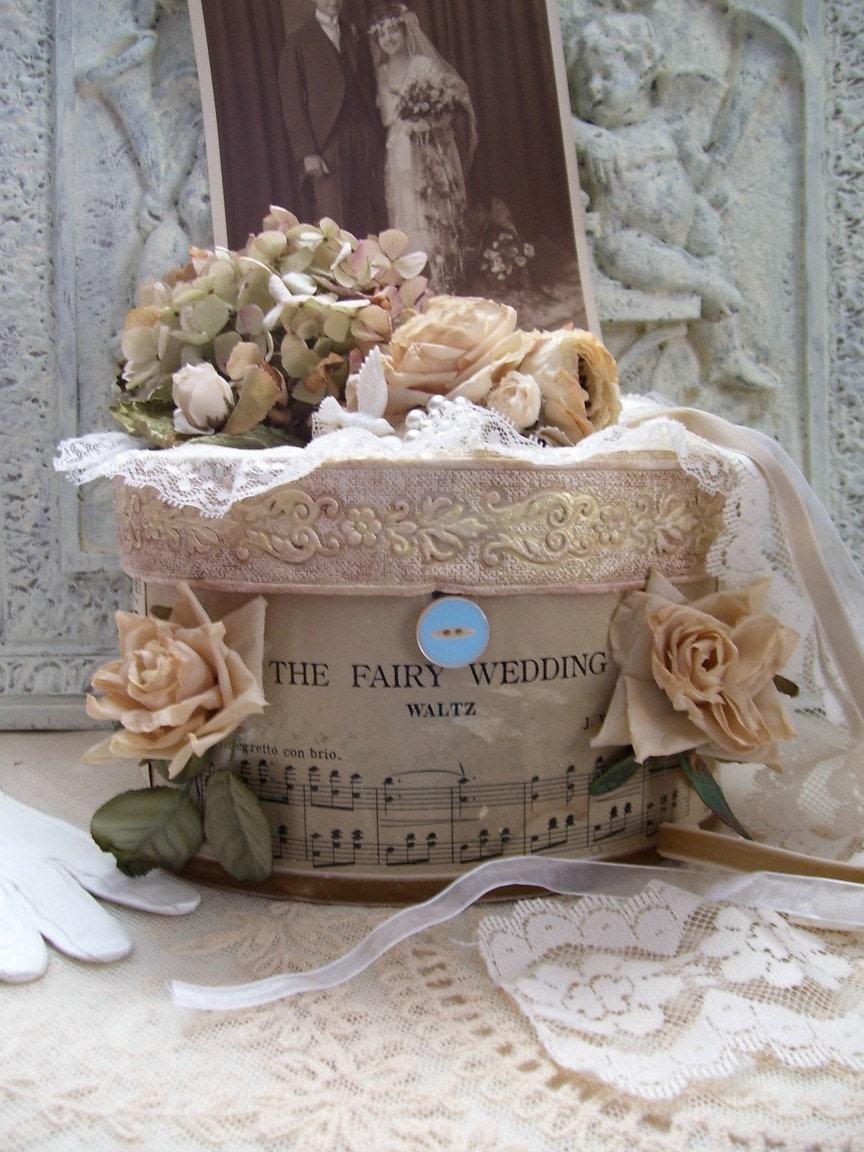 Vintage Wedding Gift Card Boxes : Weddings on EtsyThe Fairy Wedding Vintage Wedding Gift Card Box ...