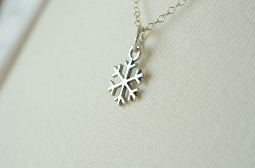 Winter's Tears - A Sterling Silver Snowflake Necklace
