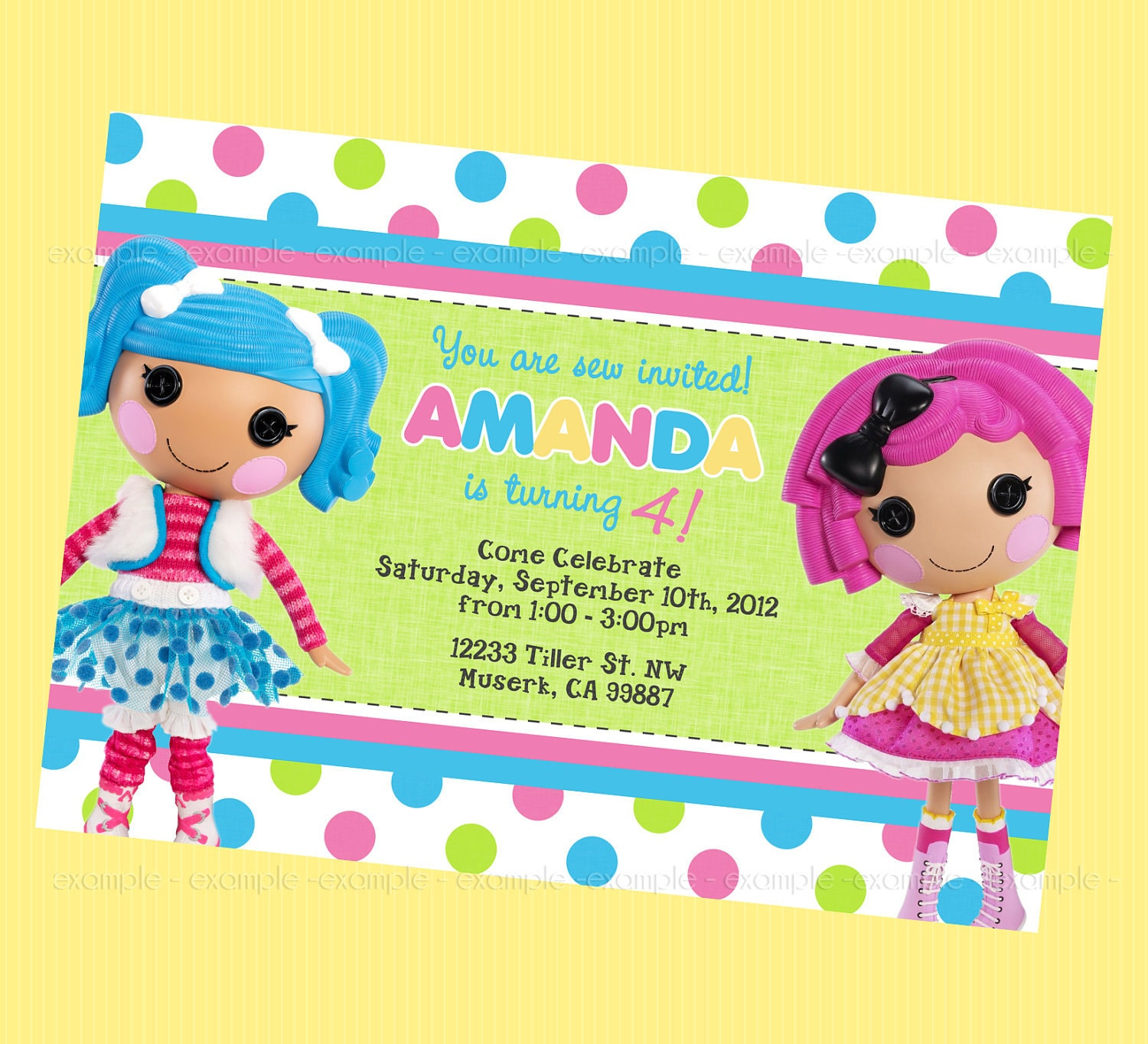 Fancy free printable lalaloopsy birthday invitations pictures fine lalaloopsy birthday party invitations embellishment filmwisefo