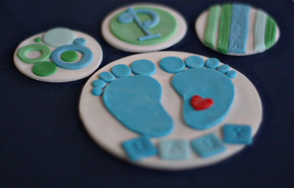 Fondant Baby Feet Cake Topper and by parkersflourpatch on Etsy