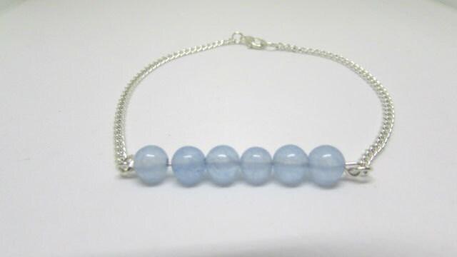 Aquamarine Blue Bracelet Boho Festival Anklet Ankle Jewellery Aquamarine Jewellery Body Jewellery March Birthstone