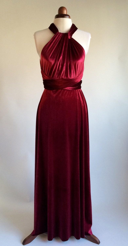 Infinity dress bridesmaid dress prom dress red velvet dress ball gown long dress evening dress convertible dress party dress