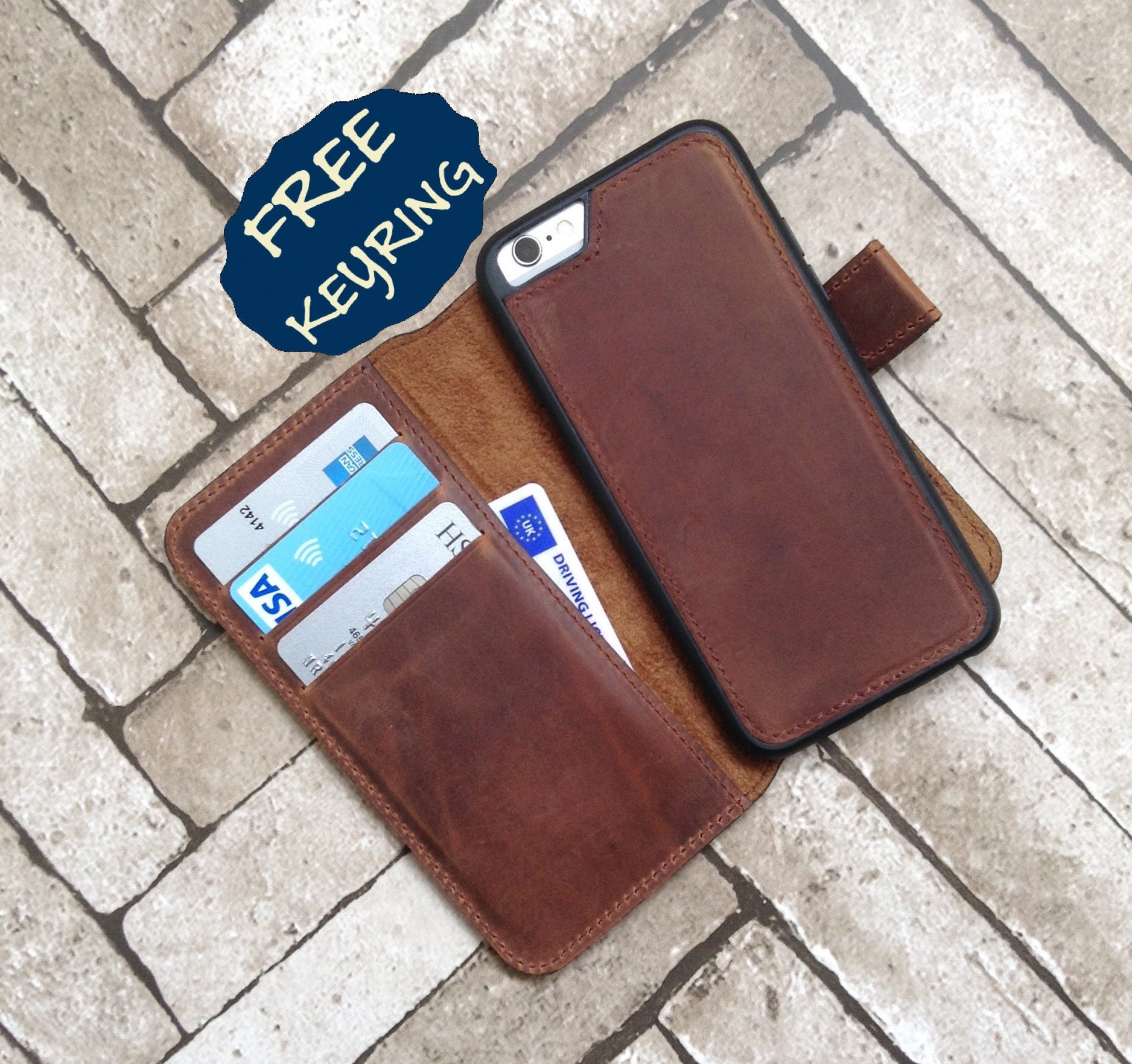 Personalized Leather iPhone 6 Case Leather iPhone 6s Case Leather iPhone Case Detachable iPhone 6 Wallet Case iPhone 6s Wallet Case iPhone