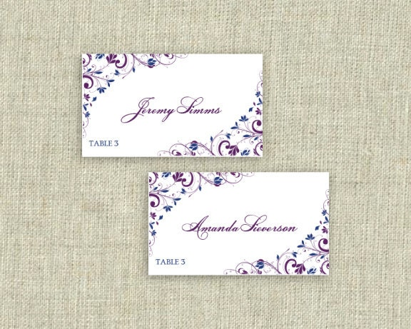 Place card template download instantly by diyweddingtemplates for Tent cards staples