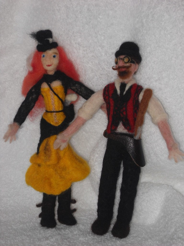 miniature 6 inch versions of your Family Doll 3D Portrait SALE,Poseable, moveable OOAK, Soft Sculptures of your loved ones or movie characters you love  made from wool and hand needle felted