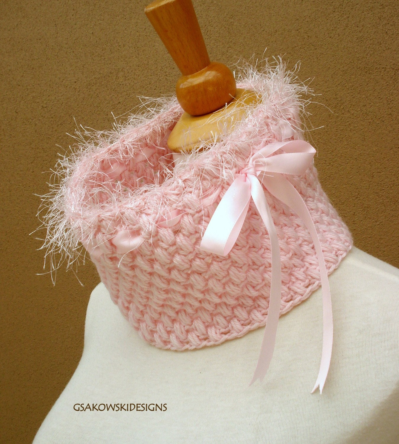 HOLIDAY SALE  Melissa-Cashmere Blend Cowl-Pink
