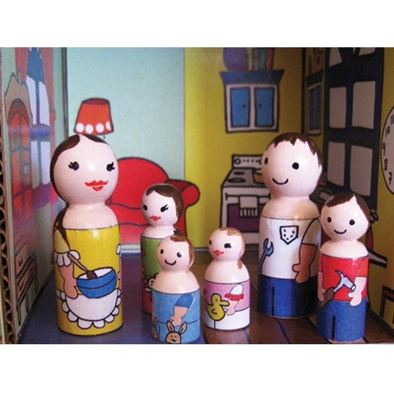 Peg Doll Family Themed Dolly Wraps, Light Skin Tone