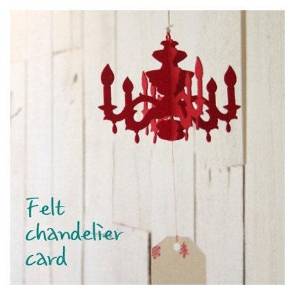 Mini  Felt Chandelier Card