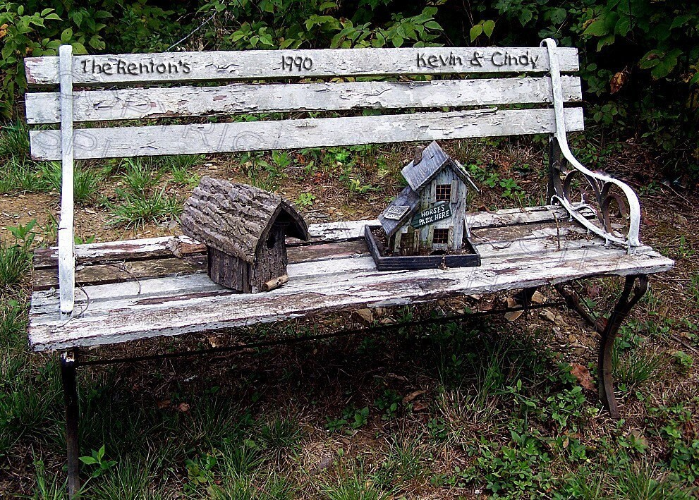 BENCH  OF LOVE ..... WEDDING....... 5 x7 PERSONALIZED PHOTOGRAPH