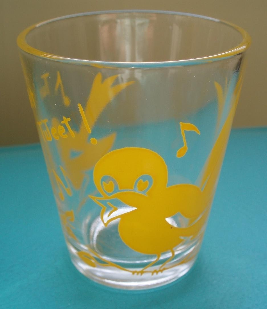 adorable and kitschy birdie shot glass! Tweet tweet!