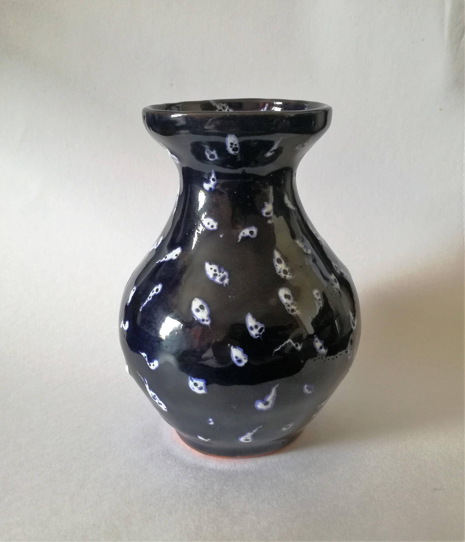 Ceramic vase Pottery vase Blue ornament vase Flower vase Unique small vase Ceramics and Pottery Handmade decor Art deco Vases