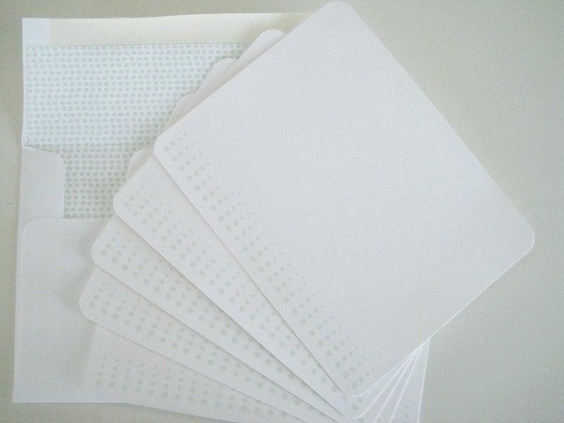 Set of Five Dot Notecards