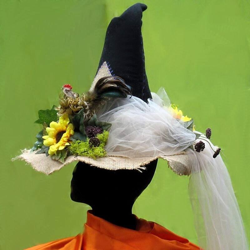 Custom Witch Hat Summer Garden