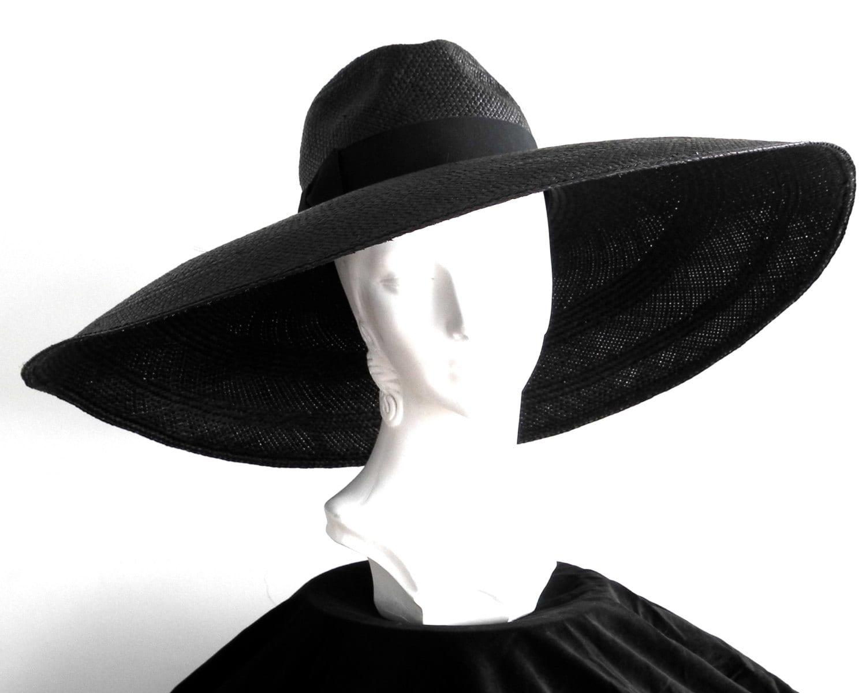 floppy wide brim panama fedora hat womens sun hat by