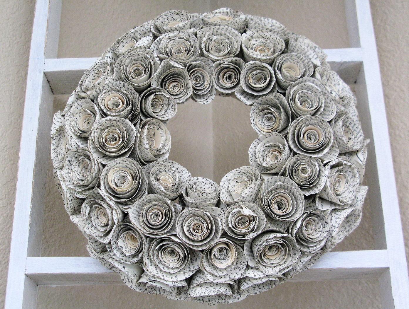 Antique Novel Wreath - CaseyLeeCrafts