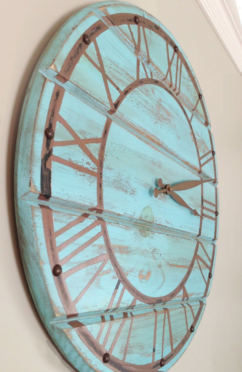 22 Inch Giant Wall Clock Wooden Wall Clock By