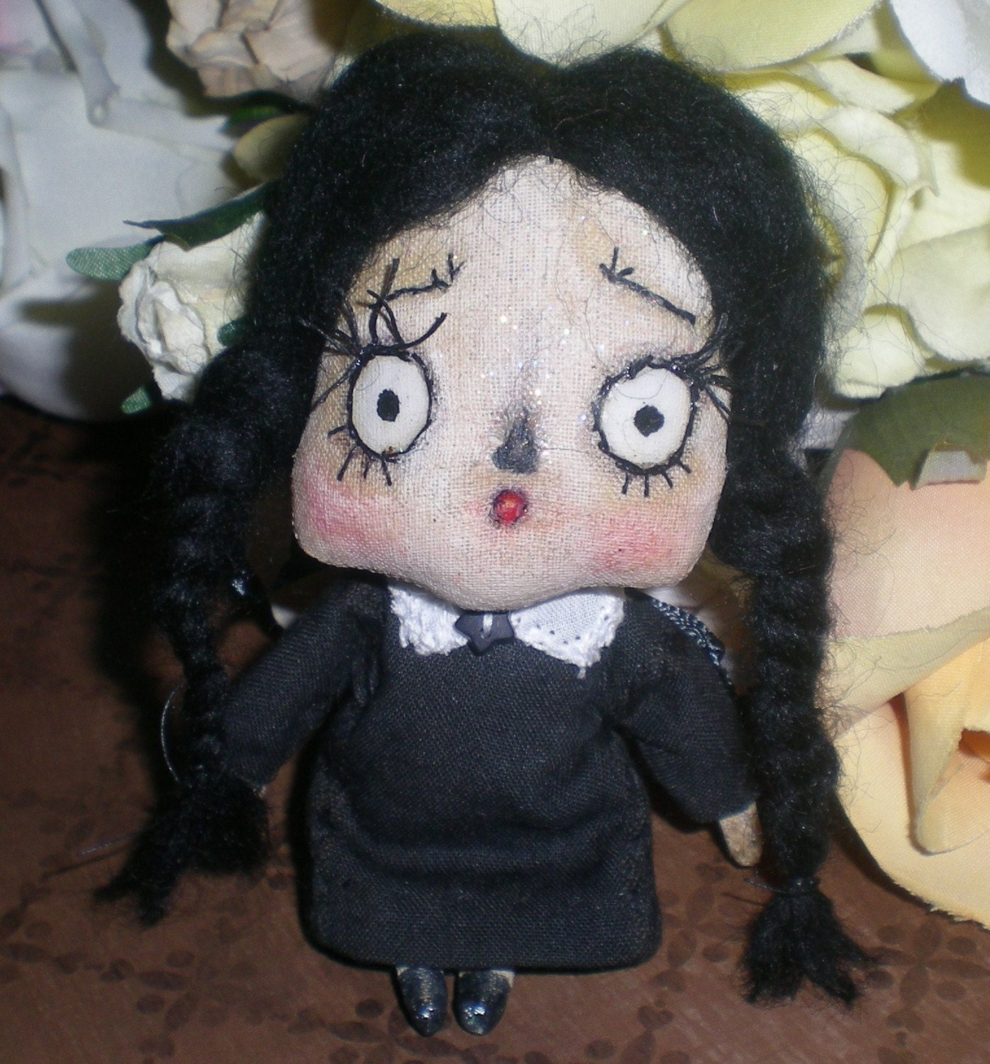 Wednesday Addams Tiny Art Doll