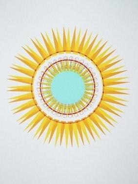 Sunshine screenprint