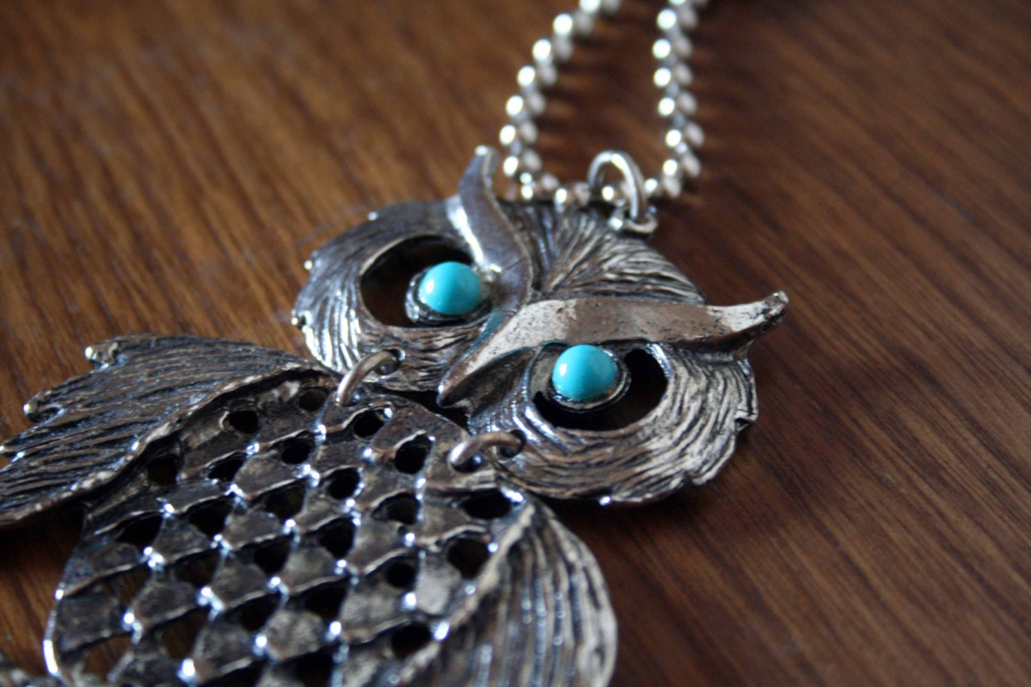 Vintage Owl Necklace - Retro