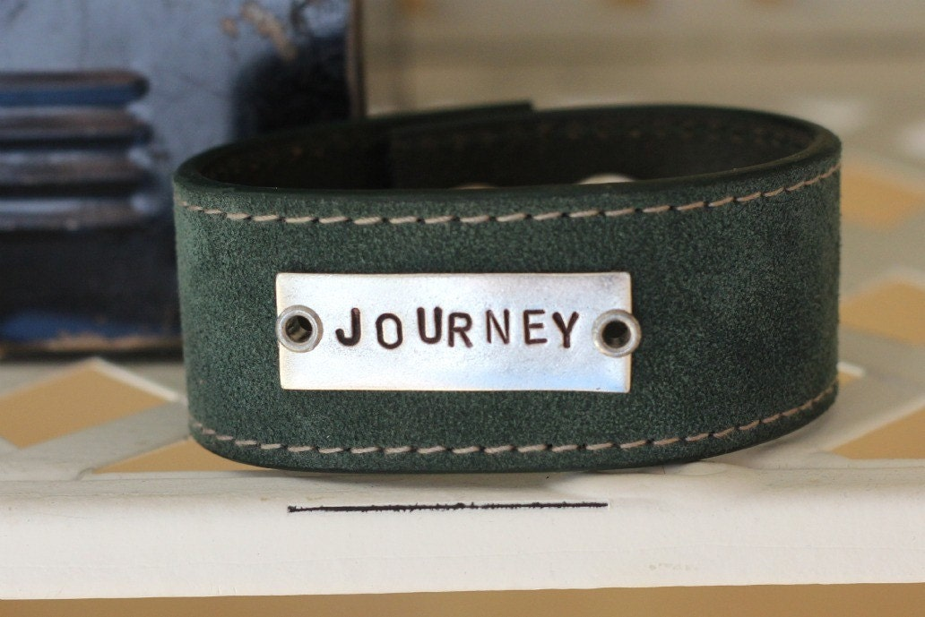 journey leather cuff