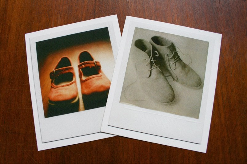 set of 2 prints form original polaroids
