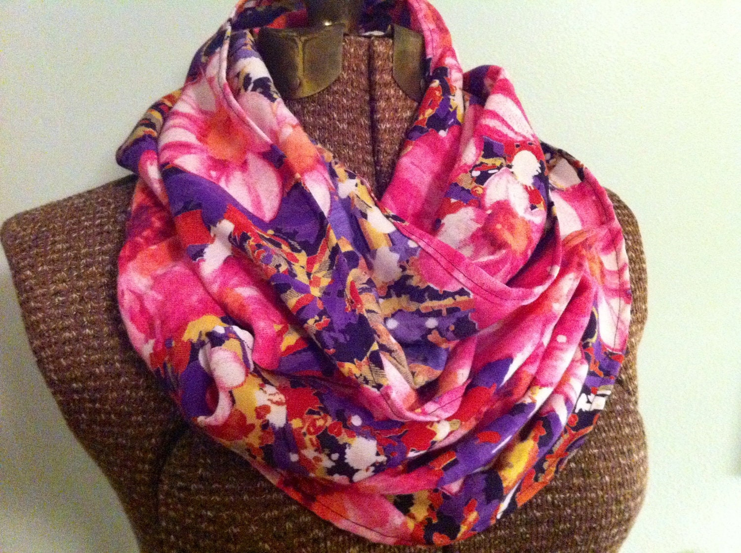 Floral Print Eternity Scarf