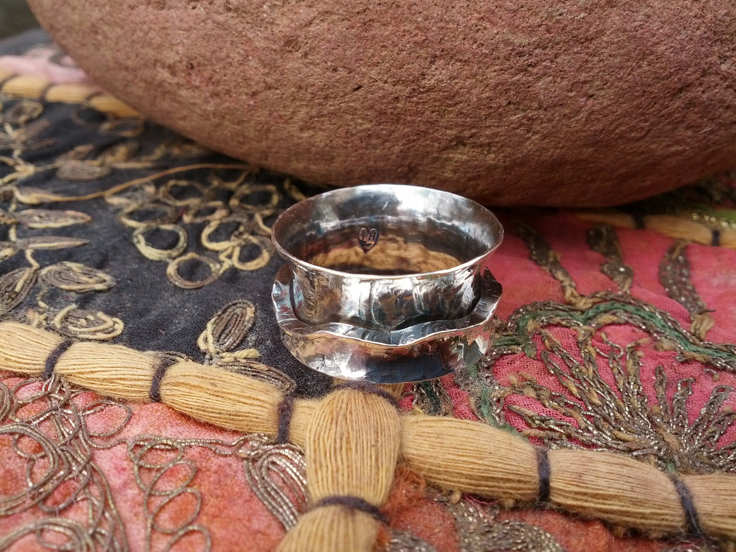 Anticlastic  Sterling Silver Kinetic Spinner Ring
