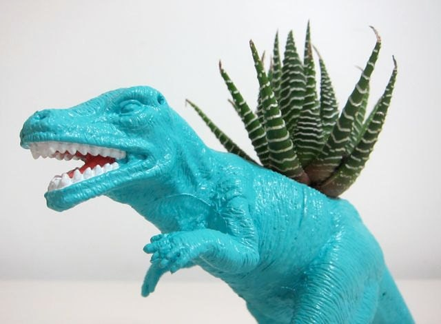 Randall the Allosaurus Planter & Succulent