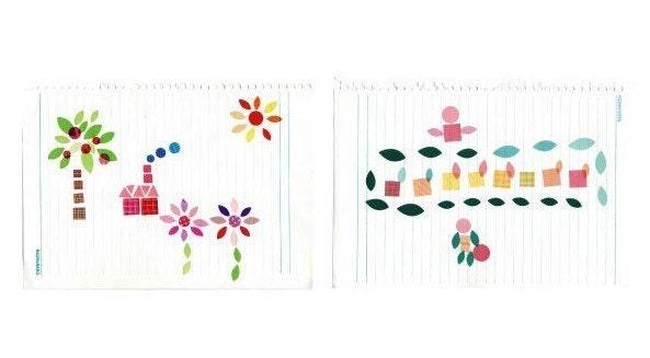 Adhesive Deco Sticker set - Ver.3 square (4sheets)