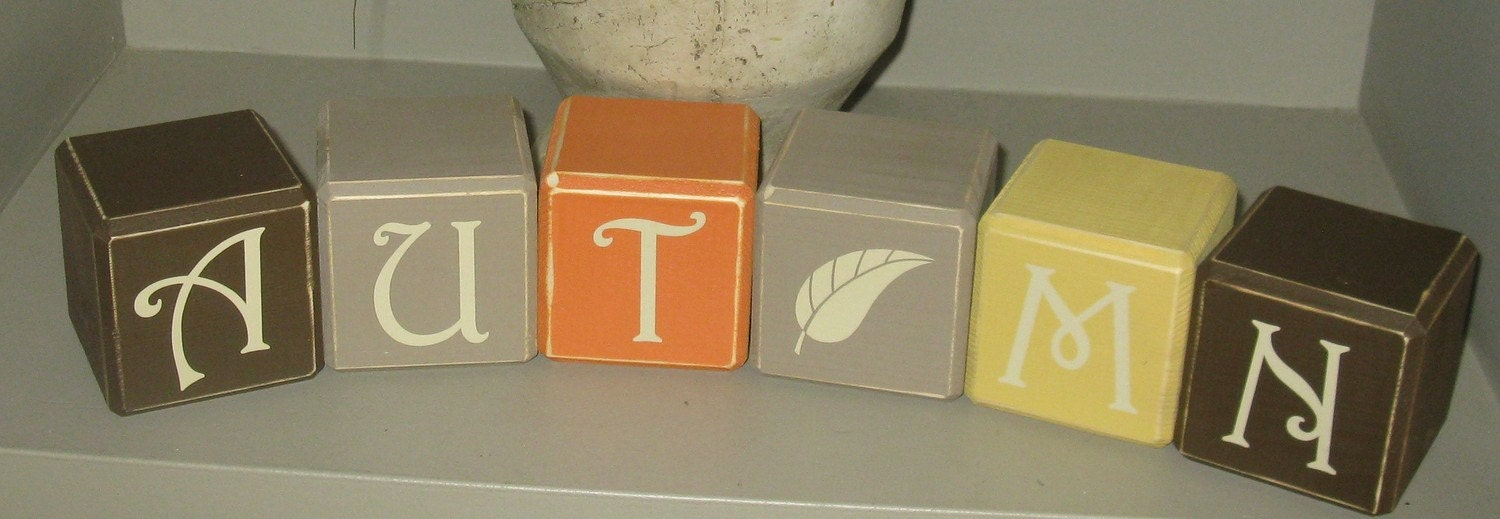 AUTUMN / FALL wooden blocks
