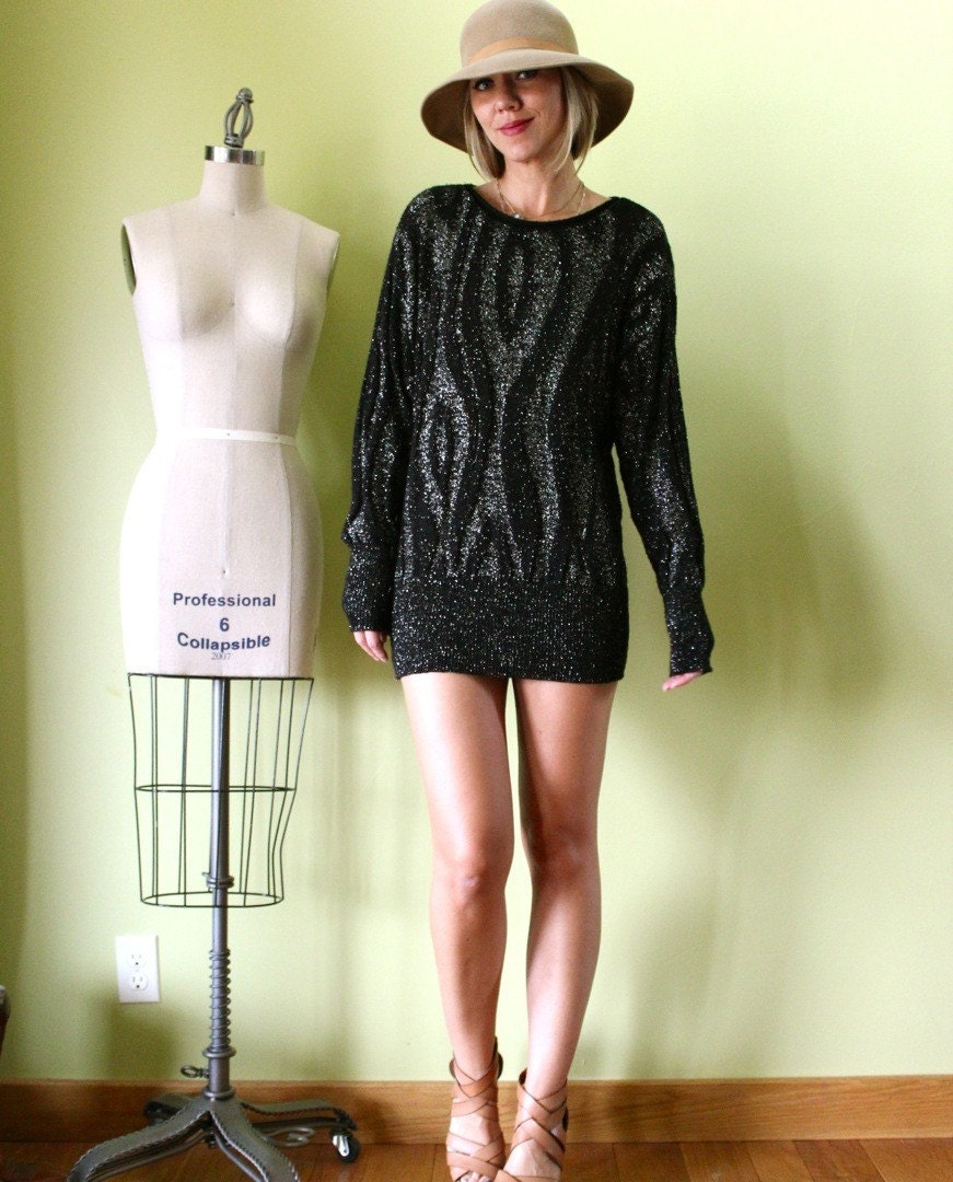 Black mini sweater dress sm