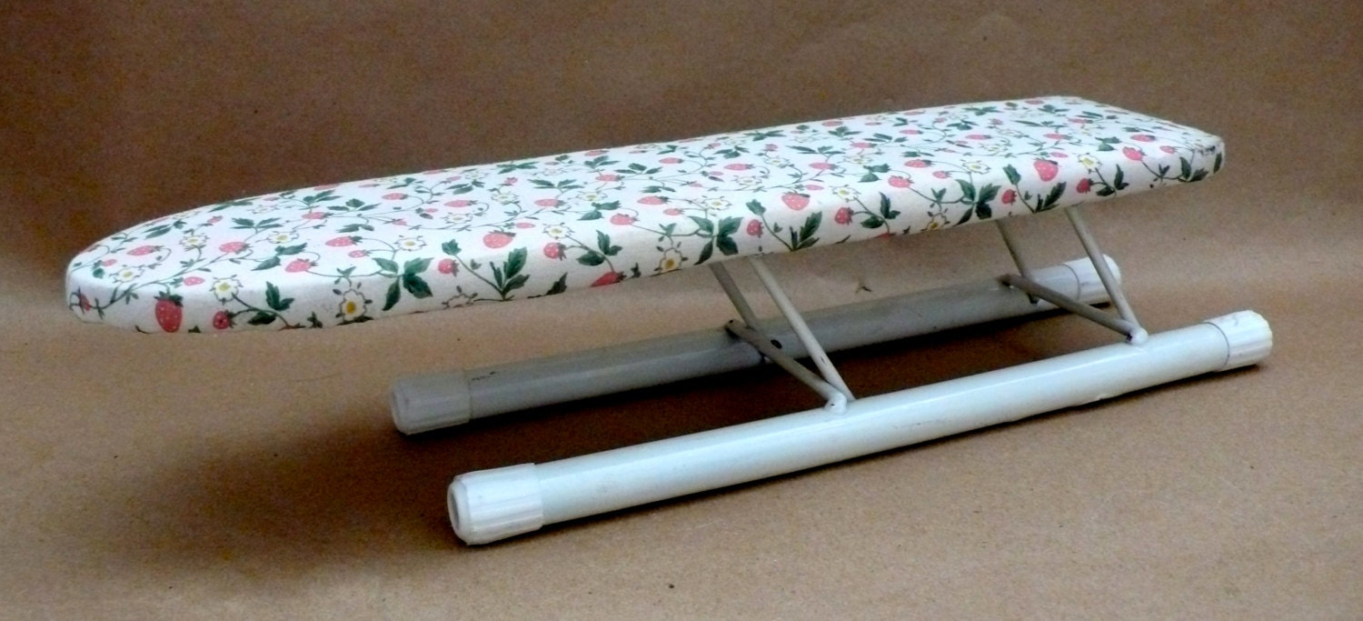 vintage sleeve ironing board wood with cover folds away. Black Bedroom Furniture Sets. Home Design Ideas