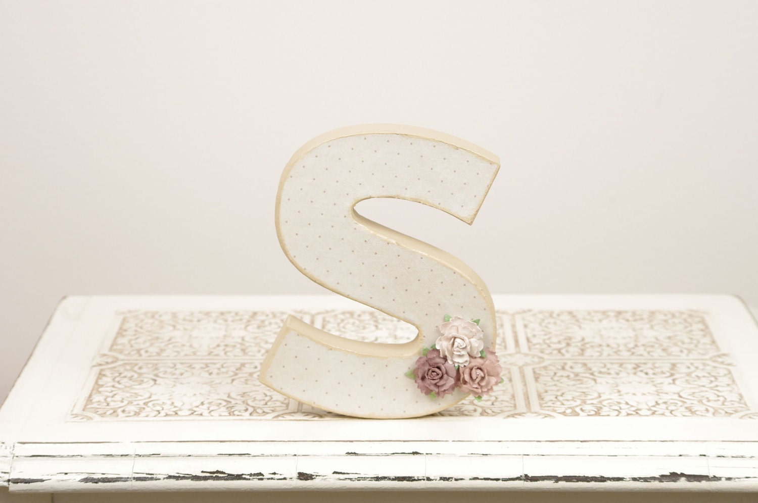 Cake Decor Letters : Letter S Monogram Cake Topper Table Decor by DuryeaPlaceDesigns