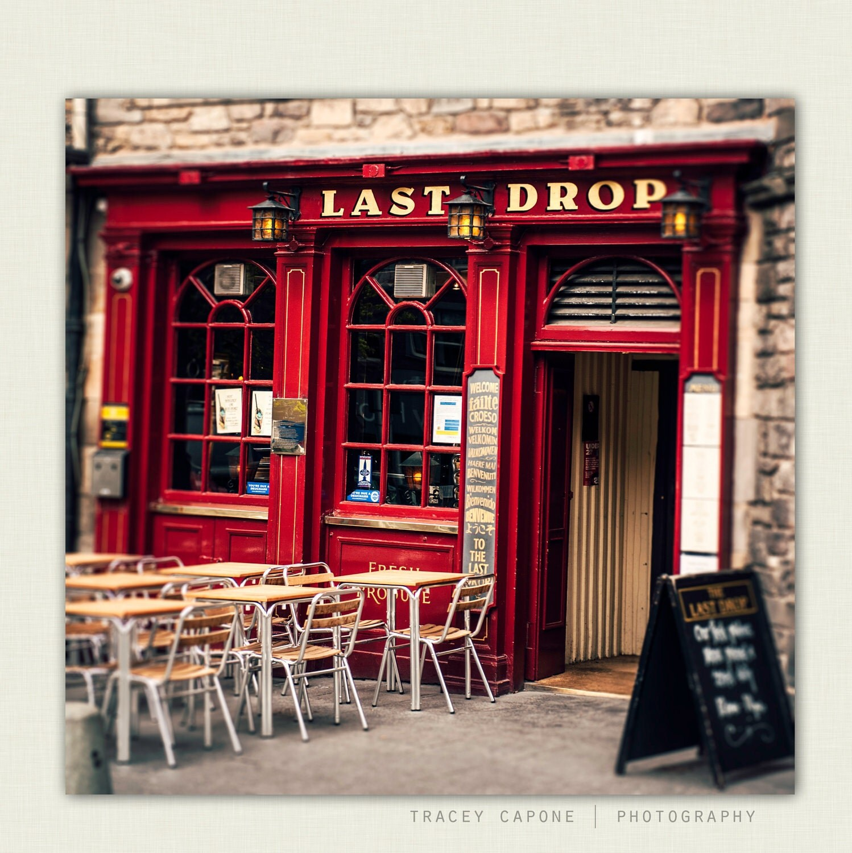 Scottish Pub Bar: Pub Art Crimson Red Bar Front In Edinburgh By TraceyCapone