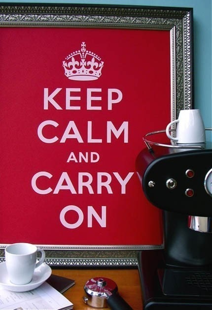 Sale FREE SHIPPING -- WILD CHERRY Keep Calm and Carry On 16 x 20 poster