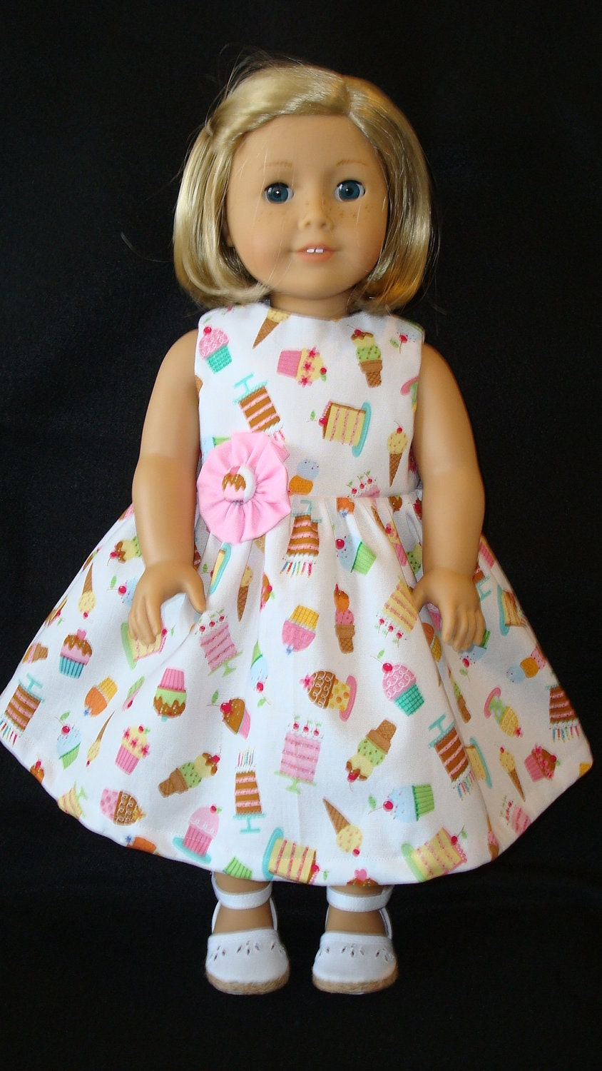 American Girl doll clothes/Birthday Cake/Dress with Flower/READYTOSHIP ...