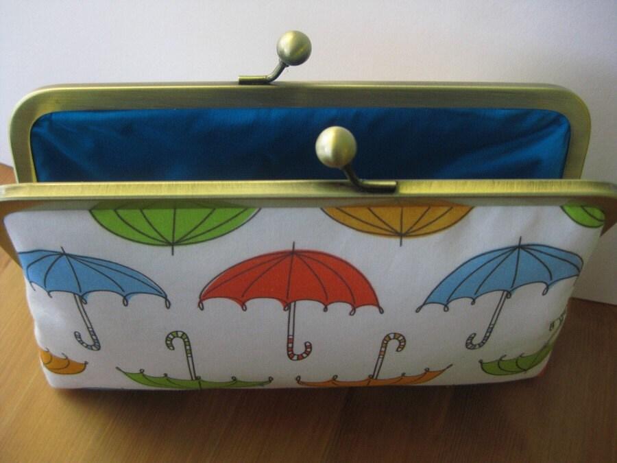 Irish Weather Clutch Bag With Silk Lining