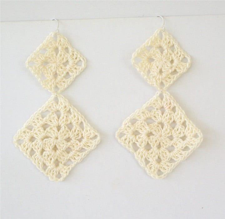 Free Crochet Patterns For Earrings : One Stitch Designs: Free Crochet Pattern: Long Granny ...