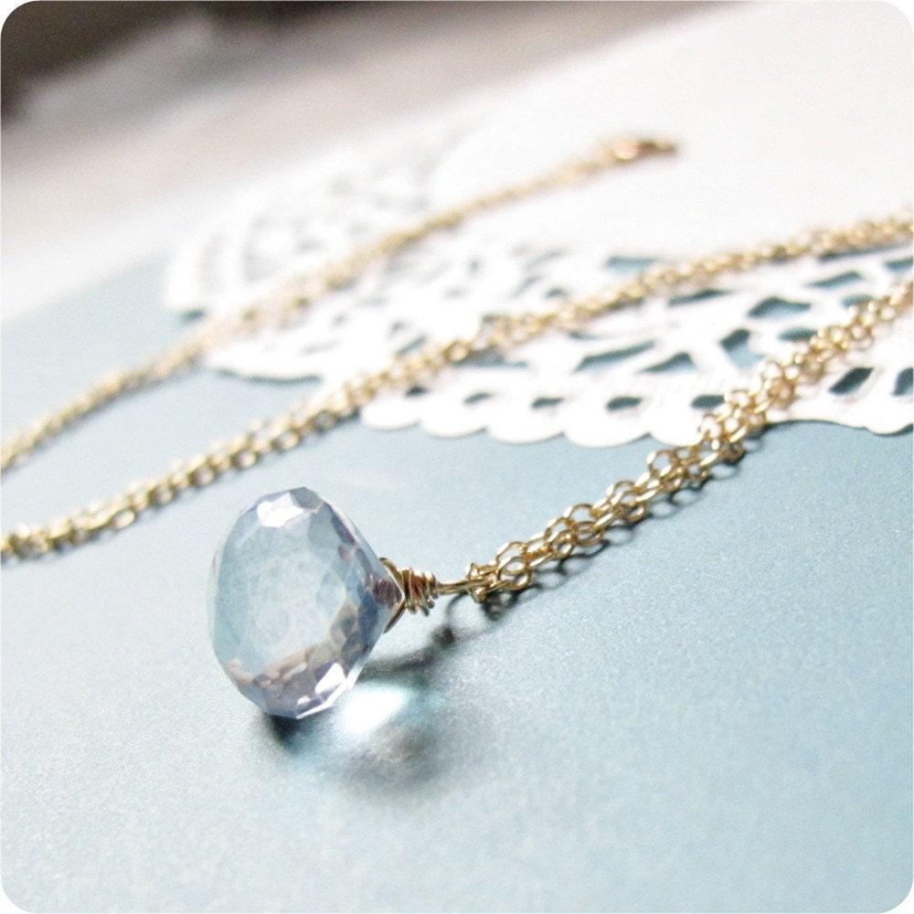 pear shaped blue mystic quartz pendant giveaway lovejujube etsy
