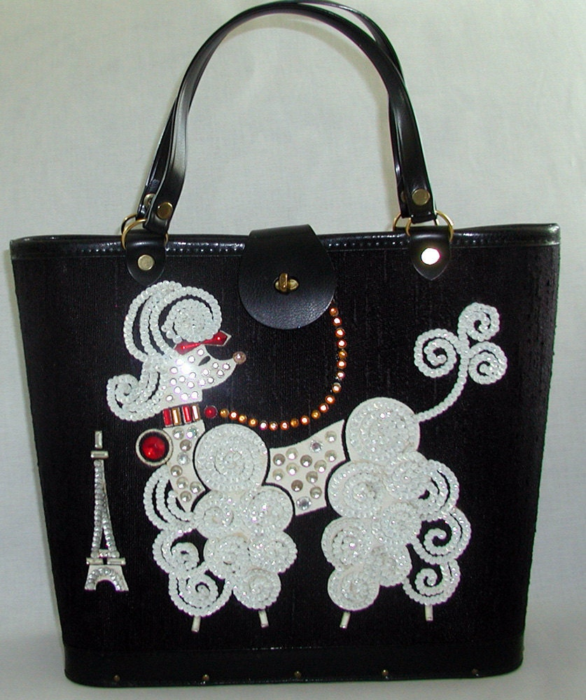 Fun Flirty & Fabulous Vintage Handbags by TheVintageHandbag :  novelty coach tapestry poodle handbags