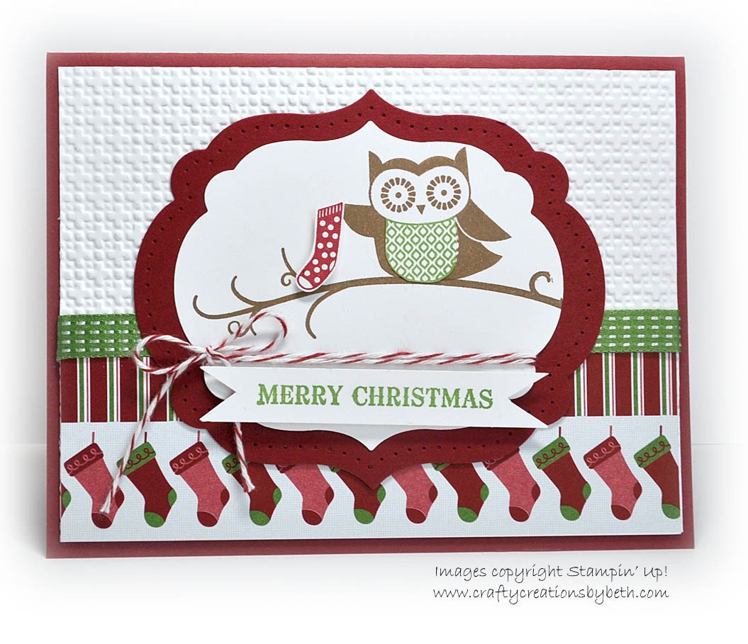 Items similar to Handmade Christmas Card - Whimsical Owl on Etsy