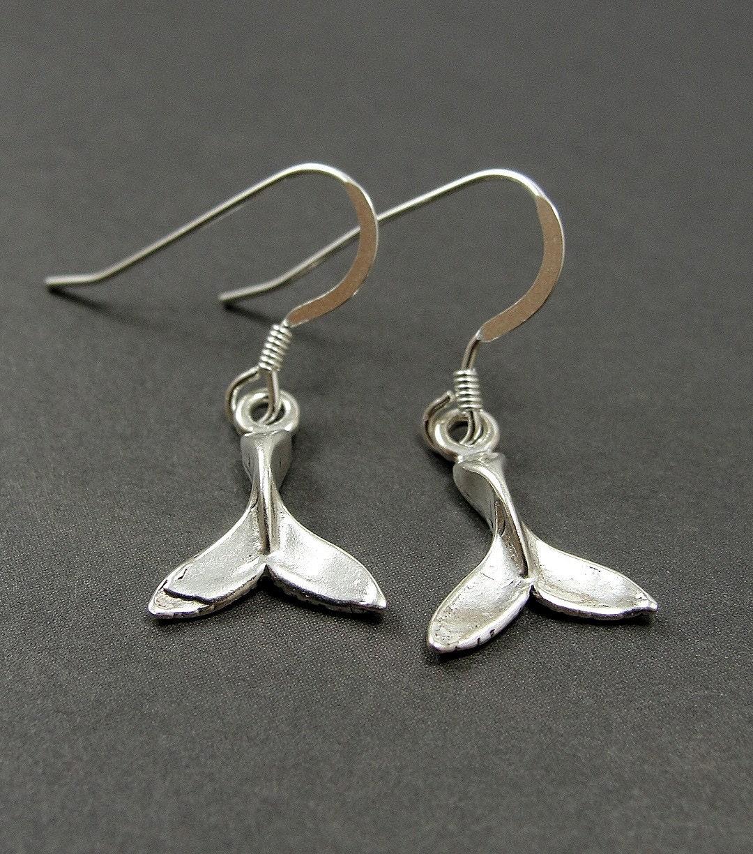 whale sterling silver earrings by treasuredcharms on etsy
