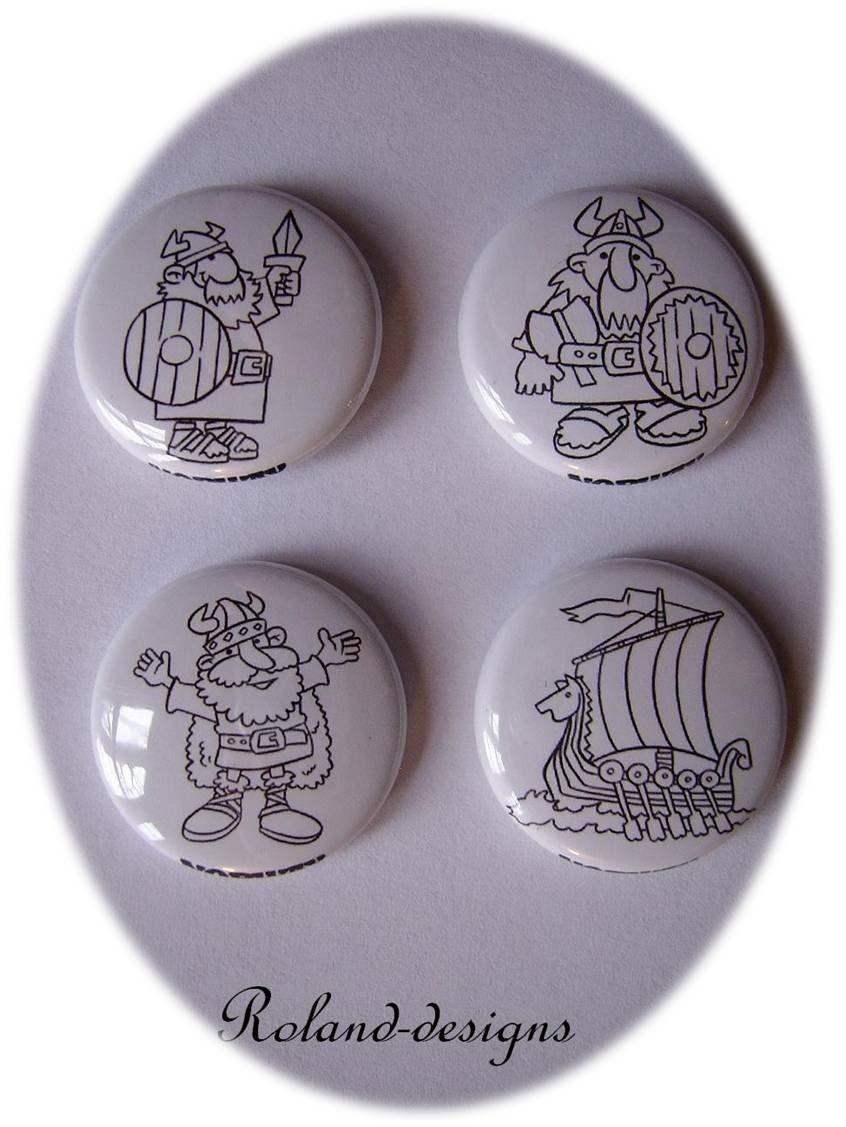 cartoon viking pins