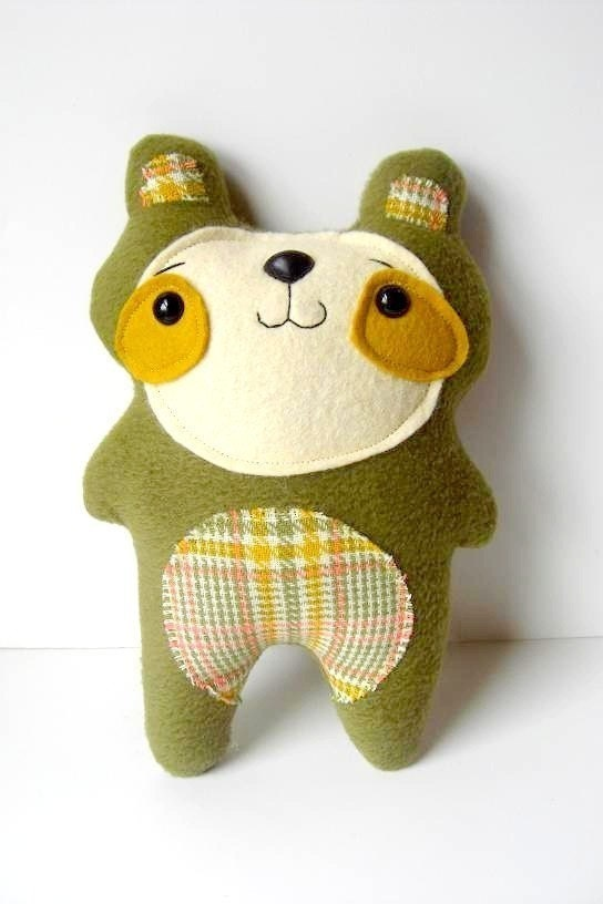 Arthur Avocado - Woodland Bear Plush - Made to order