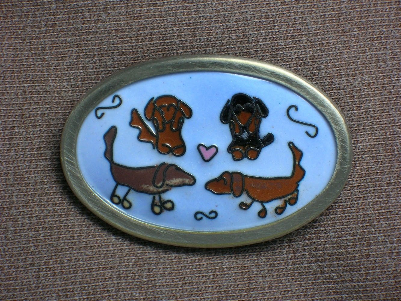Custom People or Pets Brooch - Cloisonne Enamel