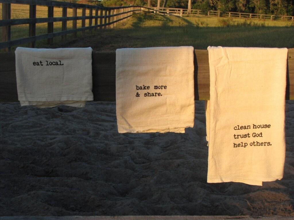 flour sack towel