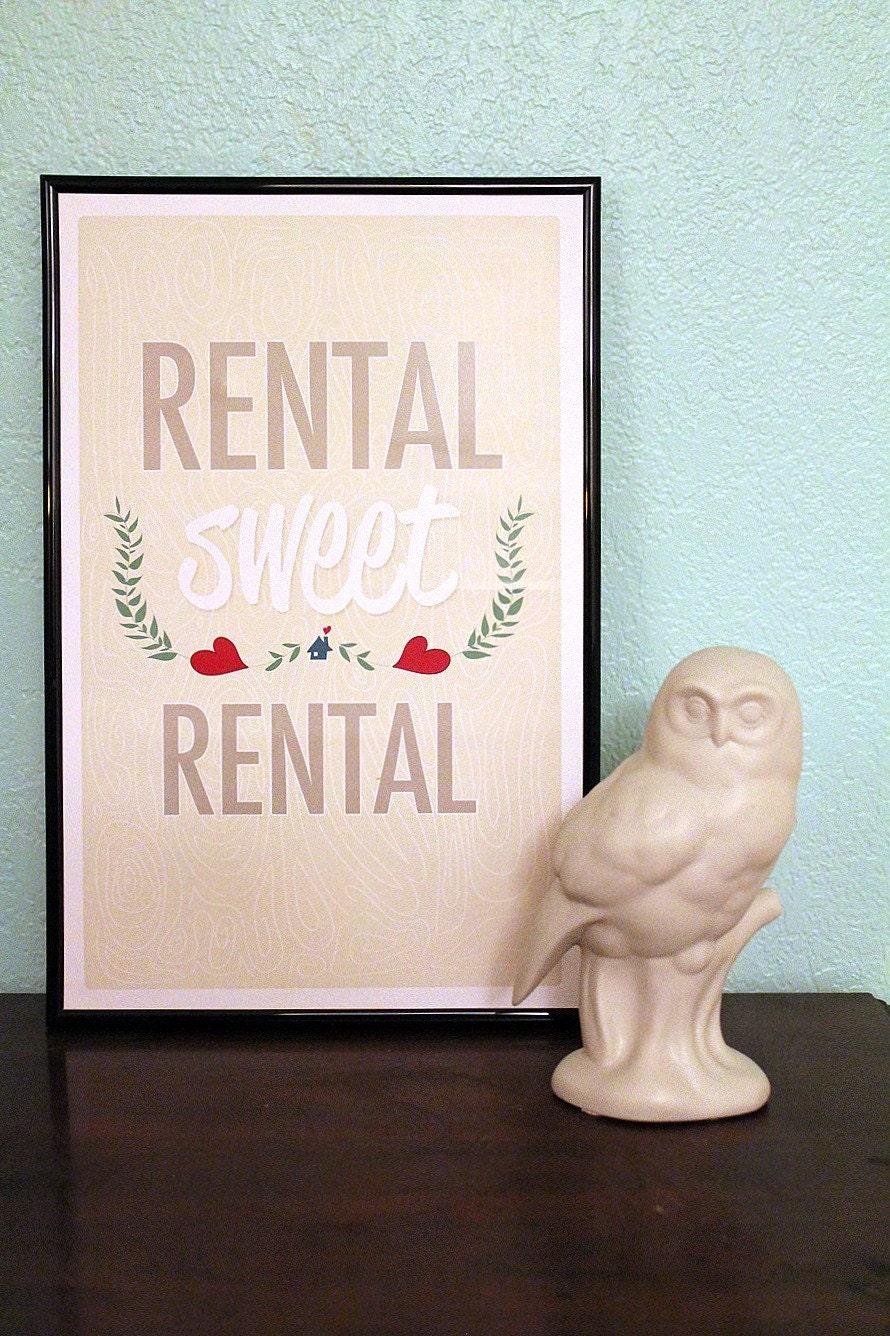 Rental Sweet Rental - 11x17 Illustration Print